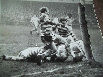 Vintage Rugby League Press Photo Hull V Halifax March 1966