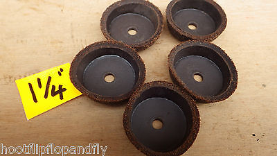 """5 x 1 1//8/"""" LEATHER SYRINGE  PUMP CUP WASHERS PUMP LEATHER STOVE GARDEN SUCTION"""