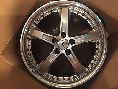 One Barely Used TSW Jarama 18x8 114.3 Hyper Silver great condition!