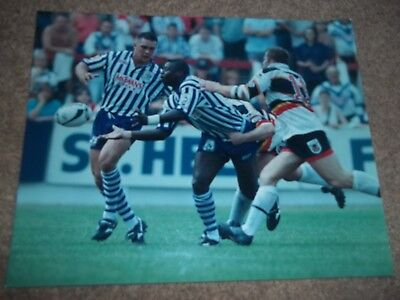 Rugby League Press Photo St Helens V Bradford Northern Sonny Nickle 1990's