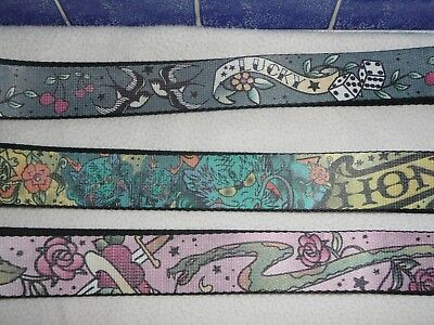 10 Wholesale Tattoo/biker/goth Print Design Woven Belts.mens.adjustable Med-Xl