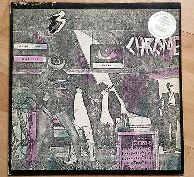 """Chrome - Read Only Memory - rare 1979 12"""" vinyl EP - (Red Records/Siren Records)"""