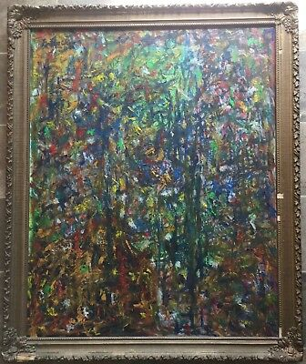 "Vintage Oil Painting Signed Framed Abstract ""SpringTime"""