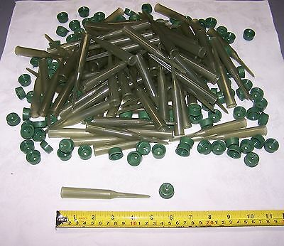 100 New Floral Green Water Picks Tubes With Caps Fresh Flowers Wedding USA Made