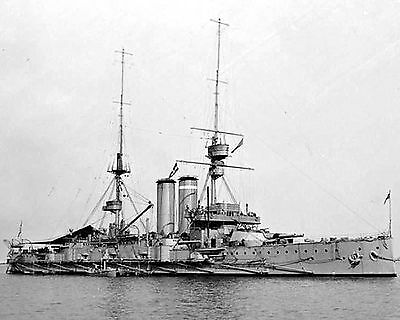 Royal Navy Battleship Hms Commonwealth  Photograph  With Stats/history Sheet