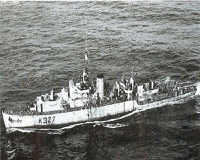 Royal Canadian Navy Frigate Hmcs Stormont K327 With Stats & History Sheet