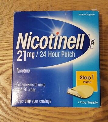 Nicotinell 21mg 24 Hour Patch - Step 1 Patch - 7 Day Supply