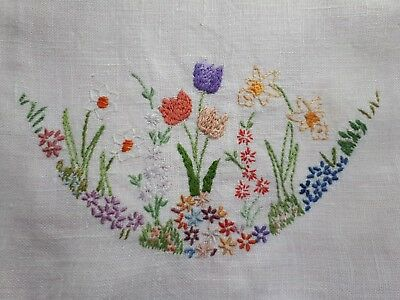 Vintage Hand Embroidered  Doily - Different!