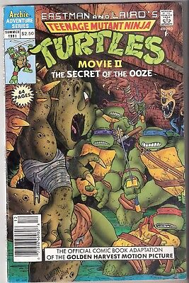 Turtles comic book Movie ll The Secret of the OOze summer 1991