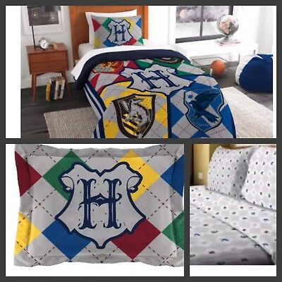 HARRY POTTER Bedding TWIN Bed In A Bag w/ Reversible Comforter & 3pc Sheet Set