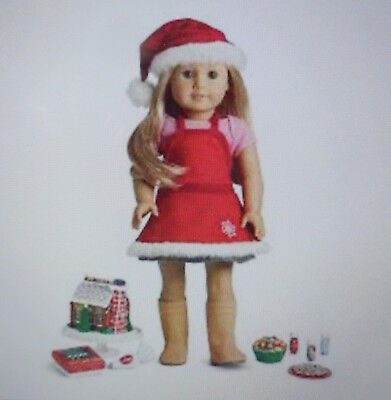 American Girl SUGAR & SPICE BAKING SET - CHRISTMAS - GINGERBREAD -Complete -New