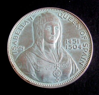 1451-1504 Isabella I Queen Of Spain Silver Coin D71-Jm
