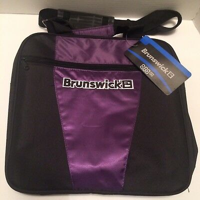 Brunswick Purple/ Black Bowling Ball Bag 59–104377 NWT