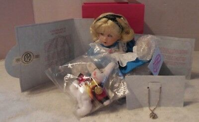 Baby Alice in wonderland Doll With White Rabbit By Marie Osmond From Disney New
