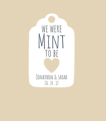 20 personalized wedding or bridal shower favor tags we were mint to be