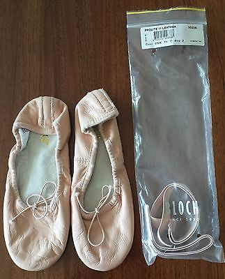 BLOCH Prolite Leather Girls Ballet Shoes BRAND NEW Size 2C