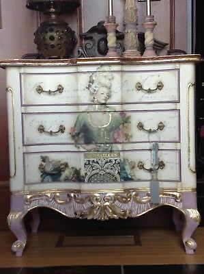 French Style Shabby Chic Marie Antoinette solid pine Chest of Drawers