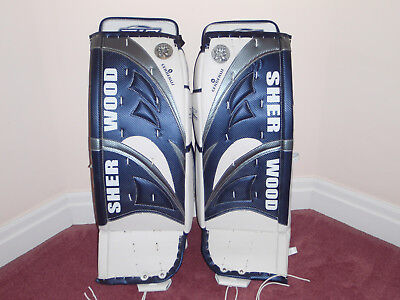 "Sherwood Goalie Leg Pads - Cerberus 10, Intermediate Size.  31+1"" New"