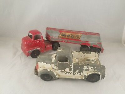 Tootsie Toy Mobil Tanker And Tow Truck