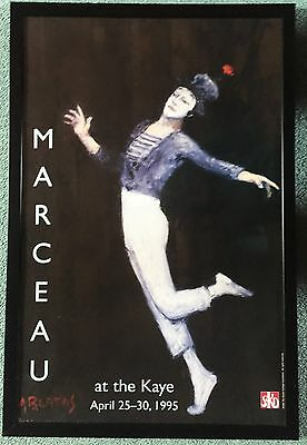 Poster of Marcel Marceau at the Kay Hunter College NY 1995