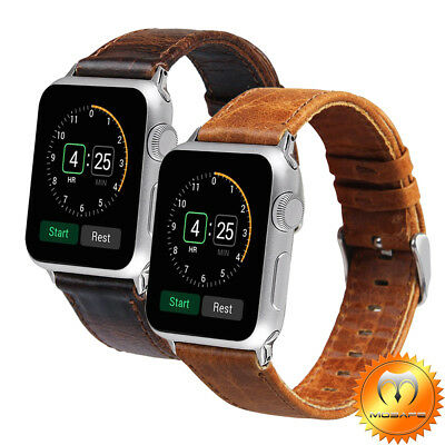 Apple Watch iwatch Band 42mm 38mm Genuine Leather Wristband Series 1 2 3