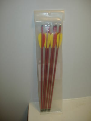 6)Aluminum Hunting Arrows ( Bolts ) 16""