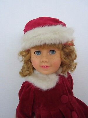 CHATTY CATHY Soft Face Pigtail RED PLUSH DRESS & HAT TALKS FREE SHIPPING