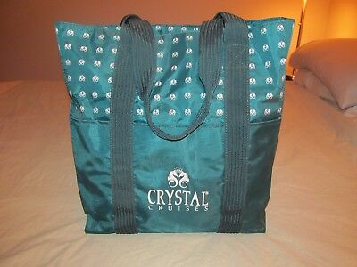 CRYSTAL CRUISE SOCIETY LINE premium member tote carry bag shoulder large green