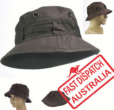 Kid Child Boy Girl Bucket Cotton Sun Hat Cap Cotton Small Large CHOCOLATE BROWN