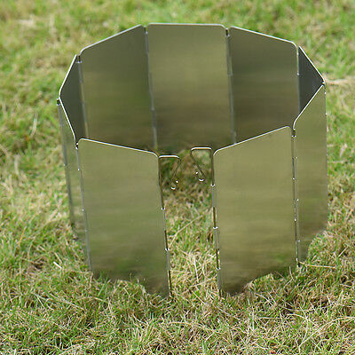 High Quality 9X Outdoor Picnic Stove Wind Shield Foldable Wind Shield Screen