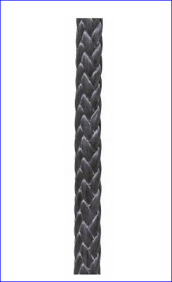 "75' of 1/4"" Black Amsteel-Blue Strong as Cable, so light it floats 7,700 Tensile"