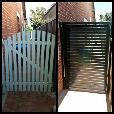 Steel Frame Gate Aluminium Slats Powdercoated With Your Choice Of Colour