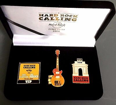 Hard Rock Cafe LONDON '08 CALLING VIP (Only) CLAPTON POLICE Pin Badge Box Set LE