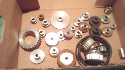 Lot of Assorted Gear Single // Double Reduction Worm Small Parts Wheel Up