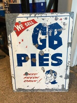 Gillies Pies Genuine Double Sided Sign