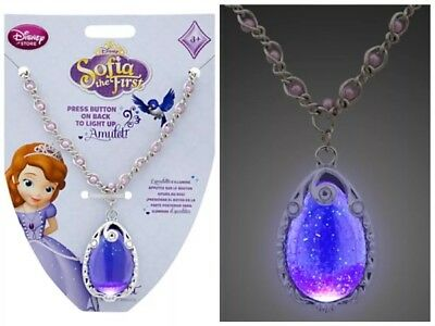 Sofia the First Light-up Amulet Disney store  necklace