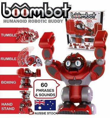 BOOMBOT Robot Smart Humanoid Interactive Robotic Kids Toy Friend 60 Sounds NEW!