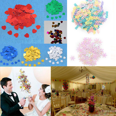 550/1000PCS Sparkle Heart Festival Wedding Party Confetti Poppers Table Decors