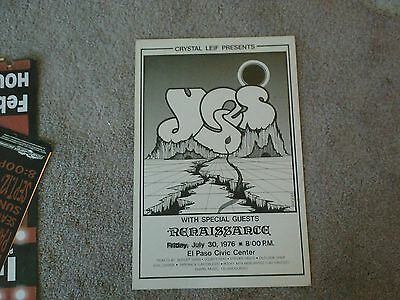 Yes  1976  Concert Poster