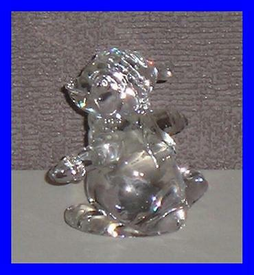 Princess House Rockin Penguin Lead Crystal Fantastic Condition Sticker Intact!