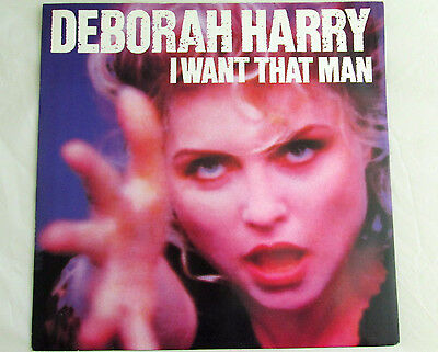 "Deborah Harry (Blondie) I Want That Man - 12"" 45rpm Vinyl Single Pic Sleeve 1989"