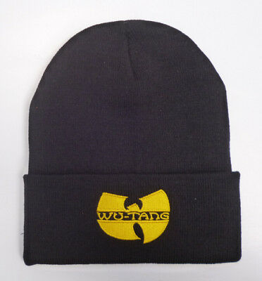Unisex winter Wu Tang Clan beanie hat men women fashion black knitted cap croche