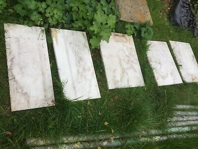 Marble fire hearth x 5 pieces