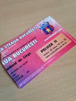 2006/07 Steaua Bucharest V Standard Leige - Uefa Cup - Used Ticket