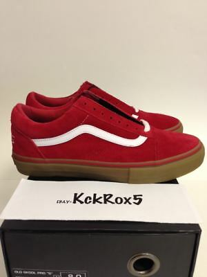4a57fd06f370 Vans Old Skool Pro S Syndicate Odd Future Red Gum Golf Wang Tyler Donut 6.5-
