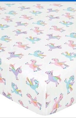 Unicorn🦄🌈rainbow Single Fitted Bed Sheet Girls~Childs  Bedroom/nursery New🦄🌈