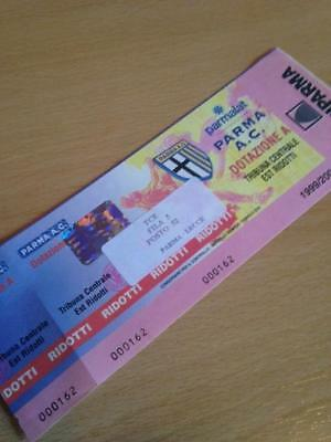 1999/00 Parma Ac V Lecce  - Used Ticket