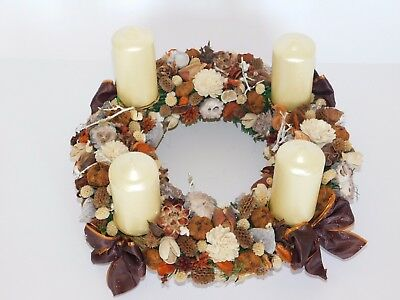 Handmade advent wreath with  4 candles