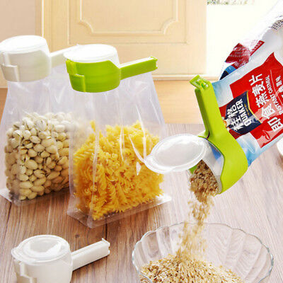 Seal Pour Food Storage Bag Clip Snack Sealing Keeping Sealer Clamp Food Kitchen