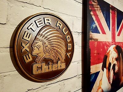 EXETER CHIEFS   Wood Carving Crest Logo